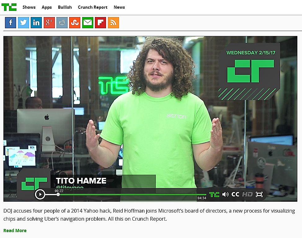 Sitrion makes an appearance on TechCrunch's Crunch Report